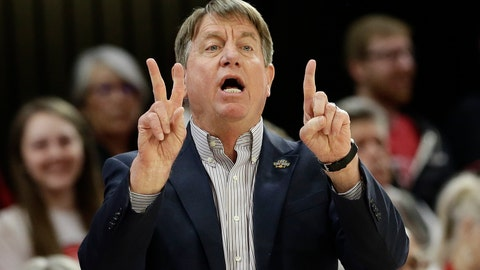 <p>               N.C. State head coach Wes Moore directs his players during the first half of a first round women's college basketball game against Maine in the NCAA Tournament in Raleigh, N.C., Saturday, March 23, 2019. (AP Photo/Gerry Broome)             </p>