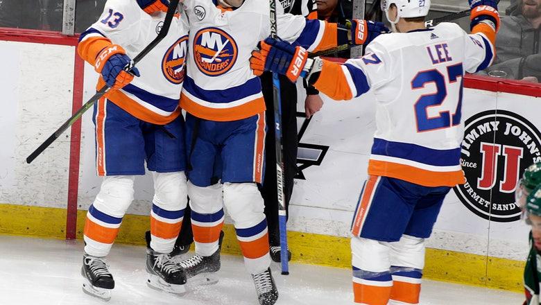 Nelson scores early in OT, Islanders beat Wild 3-2