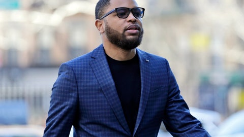<p>               Business manager Christian Dawkins arrives to court in New York, Tuesday, March 5, 2019. Federal prosecutors have recommended multi-year prison sentences for Dawkins and two other men convicted of fraud for channeling secret payments to the families of top-tier basketball recruits to influence where the players went to school. (AP Photo/Seth Wenig)             </p>