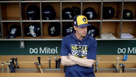 <p>               FILE - In this Saturday, March 2, 2019, file photo, Milwaukee Brewers manager Craig Counsell waits in the dugout for the start of a spring baseball game against the Chicago Cubs in Mesa, Ariz. The Brewers are well-positioned for more success this year after winning the NL Central and making it to the NL Championship Series last October. (AP Photo/Chris Carlson, File)             </p>