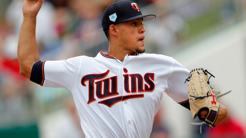 <p>               FILE - In this March 18, 2019, file photo, Minnesota Twins pitcher Jose Berrios works against the Boston Red Sox in the first inning of a spring training baseball game, in Fort Myers, Fla. Cleveland's quest for a fourth straight AL Central title will be immediately challenged, with injuries to infielders Francisco Lindor, Jose Ramirez and Jason Kipnis and the departure of relievers Cody Allen and Andrew Miller. They're starting the season at Minnesota, too, where the Twins are poised to close the gap. (AP Photo/John Bazemore, File)             </p>