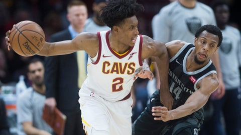 <p>               Detroit Pistons guard Ish Smith (14) defends against Cleveland Cavaliers guard Collin Sexton in the second half of an NBA basketball game, Monday, March 18, 2019, in Cleveland. (AP Photo/Ken Blaze)             </p>