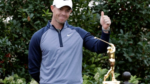 <p>               Rory McIlroy, of Northern Ireland, gives a thumbs-up after winning The Players Championship golf tournament Sunday, March 17, 2019, in Ponte Vedra Beach, Fla. (AP Photo/Lynne Sladky)             </p>