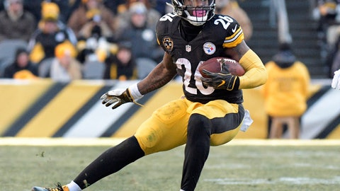 <p>               FILE - In this Sunday, Jan. 14, 2018 file photo, Pittsburgh Steelers running back Le'Veon Bell carries the ball against the Jacksonville Jaguars during the second half of an NFL divisional football AFC playoff game in Pittsburgh. Defense is the area with the most depth in this year's free agency class, Monday, March 11, 2019. (AP Photo/Don Wright, File)             </p>