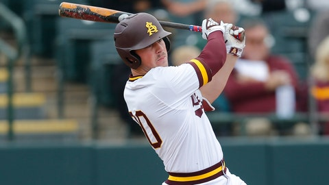 <p>               FILE - In this Feb. 17, 2019, file photo, Arizona State first baseman Spencer Torkelson bats during an NCAA college baseball game against Notre Dame,  in Phoenix. Arizona State's 15-0 start is its best since going 24-0 to open 2010. Torkelson is batting .387 with 20 RBIs and is among the leaders of one of the top offensive teams in the nation.(AP Photo/Rick Scuteri, File)             </p>