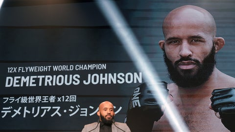 <p>               Mixed martial arts (MMA) fighter Demetrious Johnson of the United States speaks during ONE Championship A NEW ERA Press Conference in Tokyo Thursday, March 28, 2019. Johnson will make their One Championship debuts when the mixed martial arts promotion's first show takes place on Sunday at Ryogoku Kokugikan, Tokyo's famed home of sumo wrestling. (AP Photo/Eugene Hoshiko)             </p>