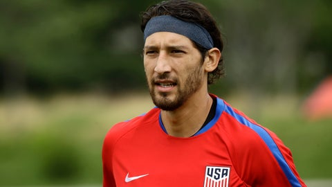 <p>               FILE - In this  July 18, 2017, file photo, United States' Omar Gonzalez moves across the field to speak with members of the media at the University of Pennsylvania in Philadelphia. Gonzalez and Tim Ream are back with the U.S. national team for the first time since 2017, and new coach Gregg Berhalter, US Soccer announced Tuesday, March 12, 2019. (AP Photo/Matt Rourke, File)             </p>