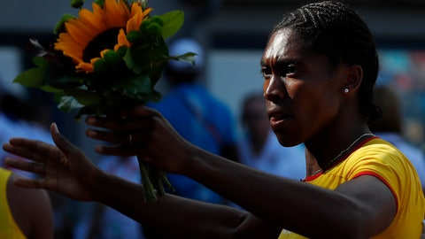 "<p>               FILE - In this Sunday, Sept. 9, 2018 file photo, Caster Semenya of South Africa celebrates winning the women's 800m at the IAAF track and field Continental Cup in Ostrava, Czech Republic. Caster Semenya's lawyers say the Olympic champion is ""optimistic"" of victory in her appeal against IAAF rules designed to control naturally high levels of testosterone in female athletes. The statement on Friday, March 22, 2019 came a day after the CAS said a decision in the pivotal case would be delayed until the end of April to allow for more legal debate. (AP Photo/Petr David Josek, file)             </p>"