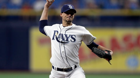 <p>               Tampa Bay Rays' Charlie Morton pitches to the Houston Astros during the first inning of a baseball game Friday, March 29, 2019, in St. Petersburg, Fla. (AP Photo/Chris O'Meara)             </p>
