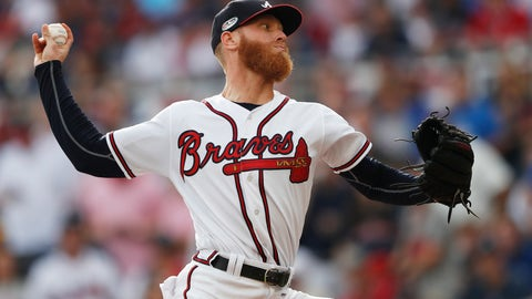 <p>               FILE - This is an Oct. 8, 2018, file photo showing Atlanta Braves pitcher Mike Foltynewicz during the first inning in Game 4 of baseball's National League Division Series against the Los Angeles Dodgers, in Atlanta. The Braves say pitcher Mike Foltynewicz will not be ready for opening day. The right-hander hasn't been able to pitch during spring training because of discomfort in his elbow caused by bone spurs. While not believed to be a serious issue, Foltynewicz was forced to push back his throwing schedule this spring.(AP Photo/John Bazemore, FIle)             </p>