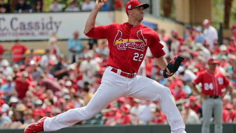 <p>               St. Louis Cardinals starting pitcher Jack Flaherty (22) delivers in the first inning during an exhibition spring training baseball game Monday, March 11, 2019, in Jupiter, Fla. (AP Photo/Brynn Anderson)             </p>