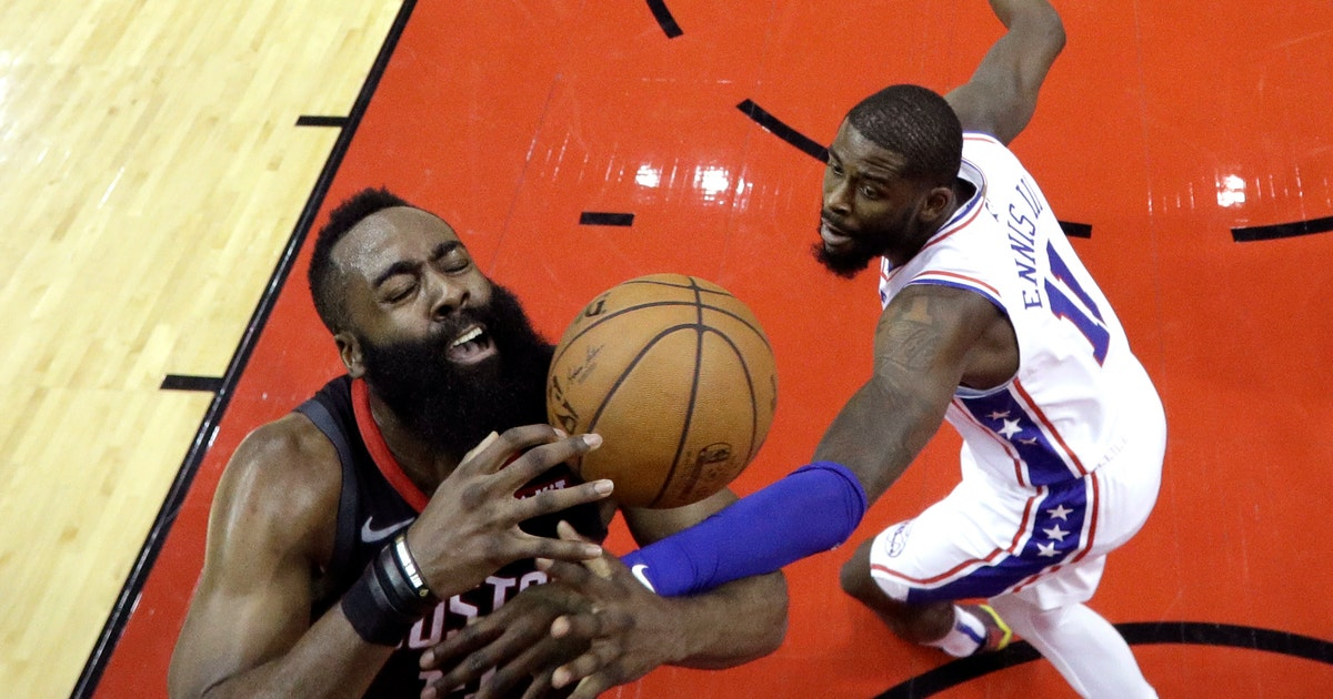 f80573e22 Harden s 31 points help Rockets past 76ers 107-91