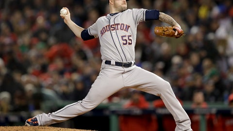 <p>               FILE - In this Oct. 13, 2018 file photo, Houston Astros pitcher Ryan Pressly throws against the Boston Red Sox during the seventh inning in Game 1 of a baseball American League Championship Series in Boston. Pressly and the Astros have agreed to a $20.4 million, three-year contract, a deal that adds $17.5 million over an additional two seasons. The 30-year-old agreed in January 2019 to a $2.9 million, one-year contract that avoided salary arbitration. The deal announced Wednesday, March 20 keeps that salary and adds $8.75 million in each of the following two seasons. (AP Photo/Charles Krupa)             </p>