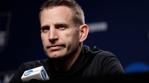 <p>               Buffalo head coach Nate Oats listens to a question during a news conference at the NCAA men's college basketball tournament, Saturday, March 23, 2019, in Tulsa, Okla. Buffalo plays Texas Tech on Sunday. (AP Photo/Jeff Roberson)             </p>