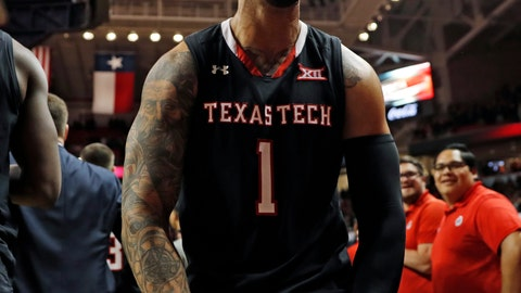 <p>               Texas Tech's Brandone Francis (1) celebrates with the fans after an NCAA college basketball game against Texas, Monday, March 4, 2019, in Lubbock, Texas. (AP Photo/Brad Tollefson)             </p>