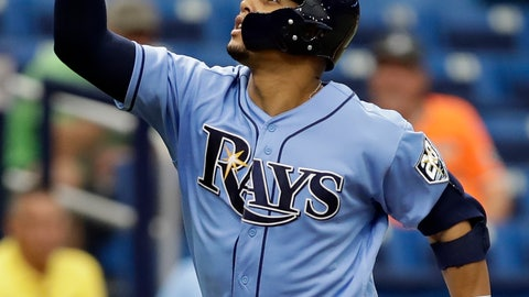 <p>               FILE - In this Sept. 9, 2018, file photo, Tampa Bay Rays' Carlos Gomez celebrates his home run off Baltimore Orioles starting pitcher Jimmy Yacabonis during the sixth inning of a baseball game, in St. Petersburg, Fla. Carlos Gomez is back with the Mets, 3 1/2 years after a trade that would have sent him from Milwaukee to New York fell through. (AP Photo/Chris O'Meara, File)             </p>