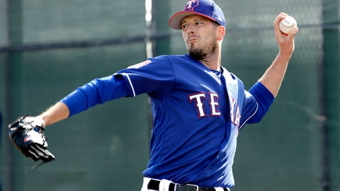<p>               FILE - In this Feb. 15, 2019, file photo, Texas Rangers pitcher Drew Smyly throws during spring training baseball practice, in Surprise, Ariz. Smyly has been a member of three different organizations since his last major league pitch in 2016 with Tampa Bay. He was traded to Seattle in Jan. 2017, but got hurt in spring training. After the Mariners declined to offer him a contract, he signed a $10 million, two-year contract with the Cubs. The 29-year-old Smyly had Tommy John surgery on July 6, 2017. The left-hander struck out the side in a rehab appearance in August, but the contending Cubs ran out of time to get him into a game. He was traded to Texas in November. (AP Photo/Charlie Riedel, File)             </p>