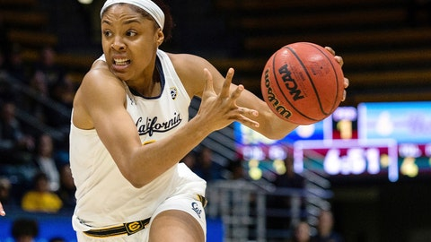<p>               FILE - In this Jan. 4, 2019, file photo, California's Kristine Anigwe drives to the basket during an NCAA college basketball game against UCLA at Haas Pavilion in Berkeley, Calif. Anigwe scored 32 points with 30 rebounds for her 30th straight double-double as California beat Washington State 80-58 on Sunday, March 3, 2019. (AP Photo/Tomas Ovalle, File)             </p>