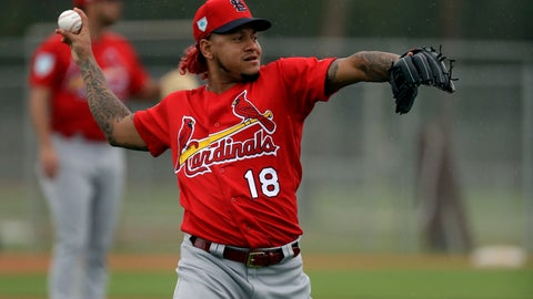 <p>               FILE - In this Feb. 13, 2019, file photo, St. Louis Cardinals pitcher Carlos Martinez throws during spring training baseball practice in Jupiter, Fla. Martinez will begin the season on the injured list as the two-time All-Star tries to work his way back from shoulder weakness.  (AP Photo/Jeff Roberson, File)             </p>