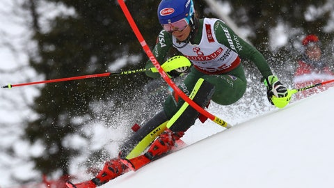 <p>               FILE - In this Feb. 16, 2019, file photo, United States' Mikaela Shiffrin competes on her way to win the women's slalom, at the alpine ski World Championships in Are, Sweden. Organizers say the women's World Cup super-G race scheduled for Saturday in Sochi has been postponed by a day due to heavy snowfall. Weather conditions have played havoc with the first World Cup events in Sochi since the 2014 Winter Olympics. (AP Photo/Alessandro Trovati, File)             </p>