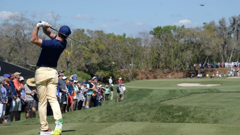<p>               Rory McIlroy, of Northern Ireland, tees off on the second hole during the first round of the Arnold Palmer Invitational golf tournament Thursday, March 7, 2019, in Orlando, Fla. (AP Photo/Phelan M. Ebenhack)             </p>