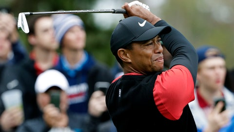 <p>               Tiger Woods tees off on the eighth hole during the final round of The Players Championship golf tournament Sunday, March 17, 2019, in Ponte Vedra Beach, Fla. (AP Photo/Lynne Sladky)             </p>