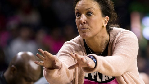 <p>               FILE - In this Feb. 11, 2018, file photo, Georgia Tech head coach MaChelle Joseph mimics one of her players after a pass was deflected during the second half of an NCAA college basketball game against Notre Dame, in South Bend, Ind. Assistant coach Mark Simons is left to keep Georgia Tech's shell-shocked team together entering its ACC tournament game against North Carolina on Thursday, March 7, 2019, without its coach, MaChelle Joseph, who was suspended last week without explanation.(AP Photo/Robert Franklin, File)             </p>