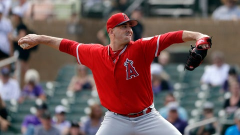 <p>               Los Angeles Angels starting pitcher Matt Harvey throws against the Colorado Rockies in the first inning of a spring training baseball game Wednesday, March 6, 2019, in Scottsdale, Ariz. (AP Photo/Elaine Thompson)             </p>