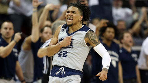 <p>               Nevada's Jazz Johnson reacts after sinking a three-point basket during the second half of an NCAA college basketball game against Boise State in the Mountain West Conference men's tournament Thursday, March 14, 2019, in Las Vegas. (AP Photo/Isaac Brekken)             </p>