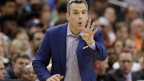 <p>               Virginia coach Tony Bennett argues a call during the second half of an NCAA college basketball game against Florida State in the Atlantic Coast Conference tournament in Charlotte, N.C., Friday, March 15, 2019. (AP Photo/Chuck Burton)             </p>