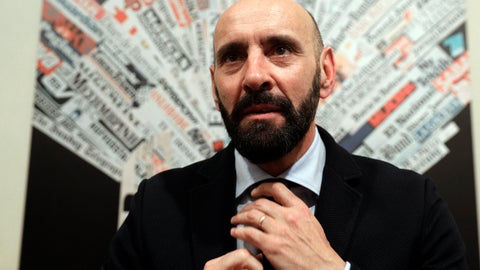 """<p>               FILE - In this Wednesday, March 28, 2018 file photo, Roma sports director Ramon Rodriguez Verdejo, known as Monchi, talks to journalist during a press conference, at the foreign press association headquarters, in Rome. The fallout from Roma's Champions League exit continues as sports director Ramon Rodriguez Verdejo, known as Monchi, has left the club by mutual consent after less than two years in his position. Roma announced Friday that """"the two parties have reached a mutual agreement to bring an early end to their professional relationship."""" Monchi had another two years left on his contract, which he signed in April 2017 after ending a 17-year stint with Sevilla. The 50-year-old has been linked with a move to Arsenal. (AP Photo/Andrew Medichini, File)             </p>"""