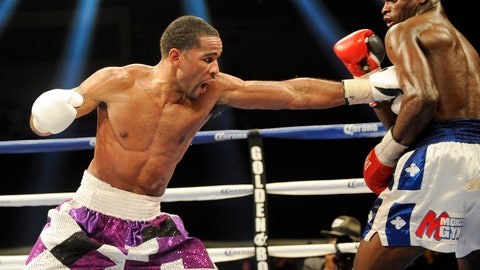 <p>               FILE - In this Jan. 25, 2014, file photo, Lamont Peterson, left, throws a punch at Dierry Jean, right, of Canada, during the IBF Junior welterweight title boxing match in Washington. Brothers Lamont and Anthony Peterson are each looking to prove themselves worthy of another title shot as they fight on the same card in front of their hometown fans. (AP Photo/Nick Wass, File)             </p>