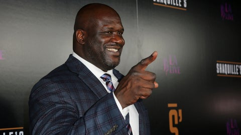 <p>               Shaquille O'Neal arrives at the Grand Opening of Shaquille's at LA Live on Saturday, March 9, 2019, in Los Angeles. (Photo by Willy Sanjuan/Invision/AP)             </p>