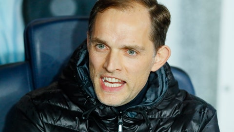 <p>               PSG coach Thomas Tuchel speaks before the Champions League round of 16, second leg soccer match between Paris Saint Germain and Manchester United at the Parc des Princes stadium in Paris, France, Wednesday, March. 6, 2019. (AP Photo/Francois Mori)             </p>