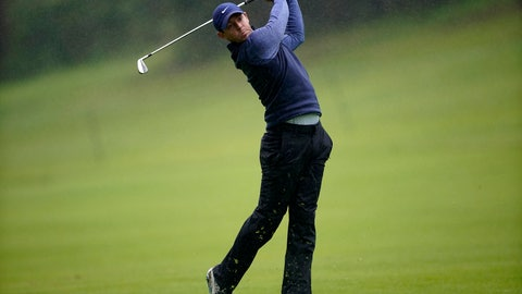 <p>               FILE - In this Friday, Feb. 15, 2019 file photo, Rory McIlroy, of Northern Ireland, hits his second shot in the rain on the 18th hole during the second round of the Genesis Open golf tournament at Riviera Country Club in Los Angeles. McIlroy begins his road to the Masters this week at the Arnold Palmer Invitational at Bay Hill.  (AP Photo/Ryan Kang, File)             </p>