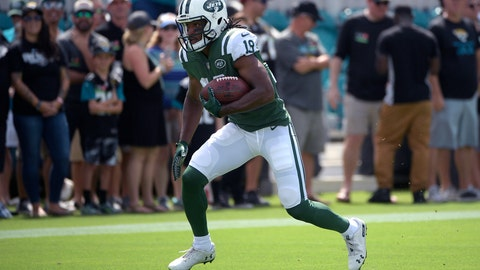 <p>               FILE - In this Sept. 30, 2018, file photo, New York Jets receiver Andre Roberts (19) warms up before an NFL football game against the Jacksonville Jaguars, in Jacksonville, Fla. A person familiar with the discussions confirms to The Associated Press that the Buffalo Bills have agreed to sign return specialist and receiver Andre Roberts. The person spoke to the AP on Thursday, March 14, 2019, on the condition of anonymity because the contract has not yet been signed. (AP Photo/Phelan M. Ebenhack, File)             </p>