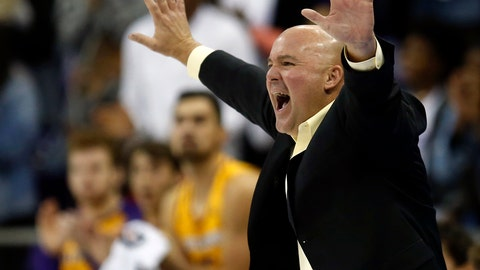 <p>               FILE - In this Nov. 20, 2018, file photo, Lipscomb head coach Casey Alexander calls a play as his team plays TCU during the second half of an NCAA college basketball game, in Fort Worth, Texas. Lipscomb fell to Liberty 74-68 in the final of the Atlantic Sun tournament, but the Bisons (25-7) have our NCAA vote after winning 25 games, including an impressive victory at NCAA bubble team TCU early in the season. (AP Photo/Ron Jenkins, File)             </p>