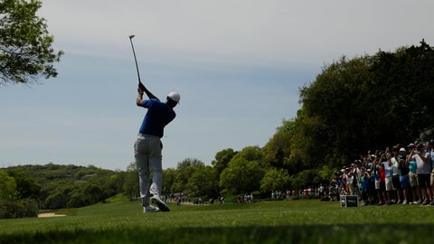 <p>               Tiger Woods hits his drive from the third tee during round-robin play at the Dell Match Play Championship golf tournament, Wednesday, March 27, 2019, in Austin, Texas. (AP Photo/Eric Gay)             </p>