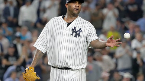 <p>               FILE - In this Oct. 9, 2018, file photo, New York Yankees starting pitcher CC Sabathia steps back on the mound during the third inning of Game 4 of the baseball team's AL Division Series against the Boston Red Sox in New York. Sabathia and Gary Sanchez took big steps forward for the Yankees on Friday, March 1. Sabathia threw his first bullpen since having a heart procedure in December, and Sanchez played in his initial spring training game following a left shoulder injury. Sabathia, who plans to retire after the season, threw 16 pitches. (AP Photo/Frank Franklin II, File)             </p>