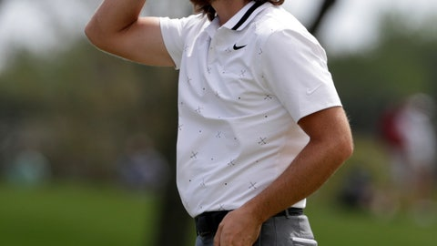 <p>               Tommy Fleetwood reacts to his putt on the ninth hole during the first round of The Players Championship golf tournament Thursday, March 14, 2019, in Ponte Vedra Beach, Fla. (AP Photo/Lynne Sladky)             </p>