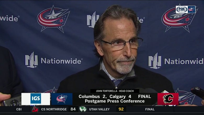 Torts on Blue Jackets' close loss in Calgary: 'We're right there'