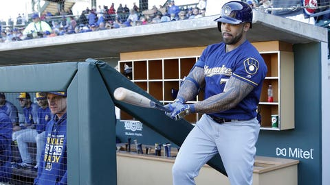 Eric Thames, Brewers first baseman (↑ UP)