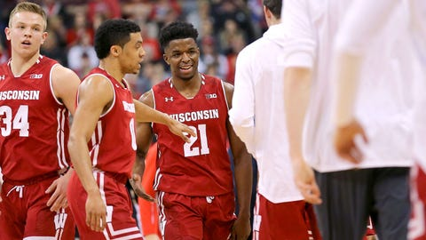 Badgers basketball (↑ UP, ↓ DOWN, ↑ UP)