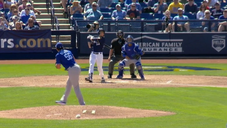 WATCH: Brewers' Christian Yelich clears the batter's eye with a home run