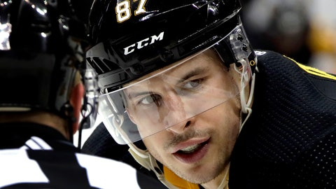 <p>               FILE - In this April 6, 2019 file photo Pittsburgh Penguins' Sidney Crosby (87) prepares to take a face-off during the second period of an NHL hockey game against the New York Rangers in Pittsburgh. The Penguins are headed to the NHL playoffs for the 13th straight year thanks in large part to Crosby's ability to help prevent goals as easily as he scores them, making him a dark-horse candidate for the Selke Trophy, the award given annually to the top defensive forward in the NHL. (AP Photo/Gene J. Puskar/File)             </p>