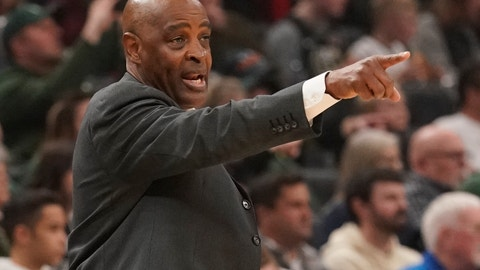 <p>               FILE - In this March 24, 2019, file photo, Cleveland Cavaliers head coach Larry Drew reacts during the first half of an NBA basketball game against the Milwaukee Bucks in Milwaukee. Drew said he has not spoken with the club's front office about his future with the team. Drew, who became Cleveland's coach when Tyronn Lue was fired in October after six games, said before a game Sunday, April 7, 2019, against San Antonio, said the sides decided to wait until the season ends before discussing what is next. (AP Photo/Morry Gash, File)             </p>