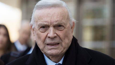 <p>               FILE - In this Nov. 17, 2017 file photo, Jose Maria Marin leaves federal court in the Brooklyn borough of New York. FIFA ethics judges have on Monday, April 15, 2019 banned Brazilian soccer official Jose Maria Marin for life, 16 months after he was convicted of corruption charges in a United States federal court. Marin led Brazil's organizing committee for the 2014 World Cup before being arrested in Zurich the next year. (AP Photo/Mary Altaffer, File)             </p>
