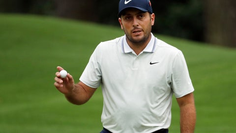 <p>               Francesco Molinari, of Italy, reacts to a birdie on the eighth hole during the final round for the Masters golf tournament, Sunday, April 14, 2019, in Augusta, Ga. (AP Photo/Chris Carlson)             </p>