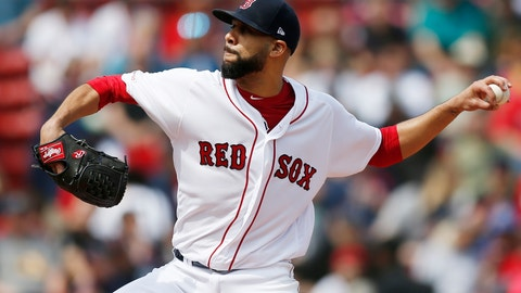 <p>               Boston Red Sox's David Price pitches during the first inning of a baseball game against the Baltimore Orioles in Boston, Sunday, April 14, 2019. (AP Photo/Michael Dwyer)             </p>