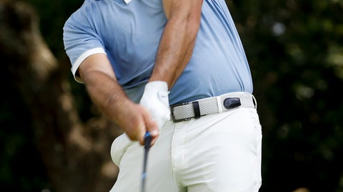 <p>               Francesco Molinari, of Italy, watches his tee shot on the second hole during a practice round for the Masters golf tournament Monday, April 8, 2019, in Augusta, Ga. (AP Photo/Matt Slocum)             </p>